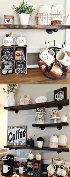"""Enjoy this beautiful floating shelf in any room to add a rustic and industrial look. These shelves are easy to install and include all needed hardware for a fast installation. Each Shelf is made of 100% solid wood and 3/4"""" painted steel brackets. #ad #affiliate #rustic #farmhouse #homedecor #interiordesign #wallart #shelf #etsy #shopsmall #smallbusiness"""
