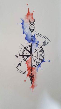 New tattoo compass design ideas trash polka 27 ideas Neue Tattoos, Bad Tattoos, Arrow Tattoos, Trendy Tattoos, Future Tattoos, Mini Tattoos, Body Art Tattoos, Tattoo Drawings, Small Tattoos