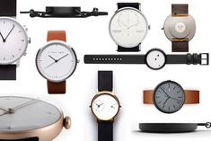 """Twelve of the most beautiful and fashionable timepieces exemplifying the """"less can be more"""" ethos of minimalism."""