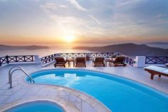 Option 3 not a private with a public pool but really want to get a private pool. Nothing like enjoying a private pool in your own suite in Santorini Imerovigli Santorini, Santorini Hotels, Santorini Travel, Santorini Wedding, Santorini Island Greece, Outdoor Pool, Outdoor Decor, Great Hotel, Selfie Time