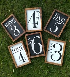 Farmhouse style wood Family Size Number Sign, Rustic Number Sign, Modern Farmhouse Family Size Sign, Gallery Wall Sign, French Country Sign by LovinWoodSigns on Etsy