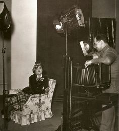 """Myrna Loy poses for Clarence Sinclair Bull, on the set of """"The Thin Man"""", 1934."""