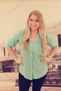 Jessica at North Carolina Grown: Wearing our bliss necklace and link bracelet.