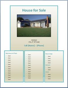 Real Estate Listing Flyer Template For Microsoft Publisher