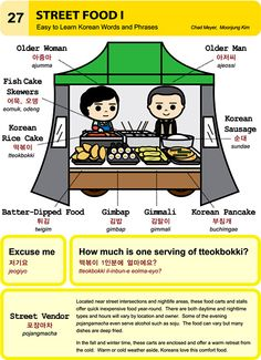 Enjoying street food in the winter time. Chad Meyer and Moon-Jung Kim EasytoLearnKorean.com An Illustrated Guide to Korean