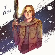 Beautiful art of Jyn right here