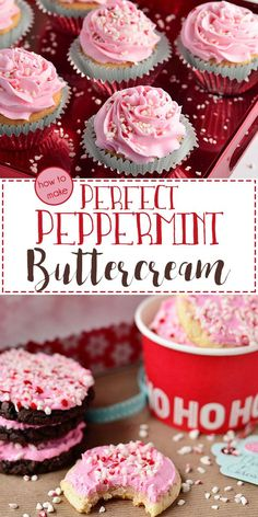 Learn how easy it is to whip up  Perfect Peppermint Buttercream Frosting recipe that's fluffy, smooth and a versatile addition to any holiday treat! Peppermint Buttercream Frosting Recipe, Cake Icing, Icing Frosting, Frosting Recipes, Holiday Baking, Christmas Baking, Christmas Desserts, Holiday Treats, Christmas Cookies
