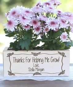 Look what I found on #zulily! 'Thanks For Helping Me Grow' Planter Box by Morgann Hill Designs #zulilyfinds