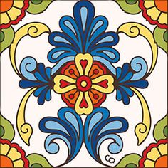 With these colorful Floral ceramic tiles you can hang them in a frame or combine them to create beautiful floral patterns anywhere in your home! Be sure to view the alternate images next to each product for a larger view.