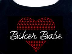 Biker Babe RHINESTONE TShirt or tank top by RhineDesigns, $19.95