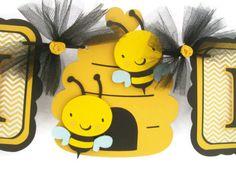 Género neutro abeja bebé ducha banner por NancysBannerBoutique