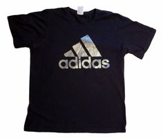 Adidas t-shirt shirt mens Dark blue 100% cotton size L logo brand 3 stripes #adidas #shirt