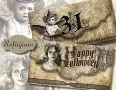 halloween envelope digital download sheet by digitalRefugium, €3.90