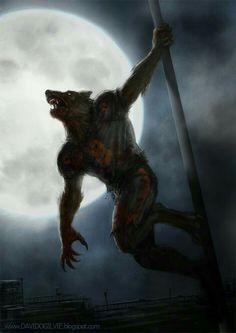 Wolf Blitzer by ogilvie on DeviantArt Fantasy Creatures, Mythical Creatures, Dark Fantasy, Fantasy Art, Beast, Werewolf Art, Vampires And Werewolves, Creatures Of The Night, Classic Monsters