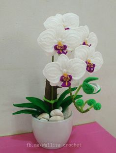 This pin was discovered by gen – artofit Crochet Flower Tutorial, Crochet Flower Patterns, Flower Applique, Crochet Flowers, Beaded Flowers, Diy Flowers, Flower Decorations, Crochet Bouquet, Pinterest Diy Crafts