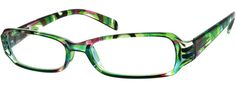 2252 Plastic Full-Rim Frame with Spring Hinges-BgaEGhHB -- Green marble multi-colorful frames.