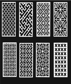 Collection of Laser Cut -ScrollWork CNC -Vector DXF CDR Art file ready to cut dxf file laser cut cnc design Jalli Design, Tile Design, Cnc Cutting Design, Laser Cutting, Pattern Art, Pattern Design, Door Gate Design, Fence Design, Window Grill Design