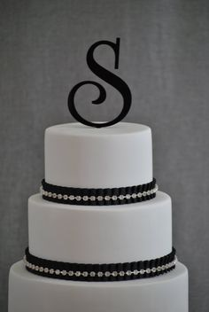 Personalized Cake Topper  Initial Wedding Cake by ChicagoFactory, $17.00