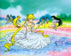 Princess Serenity and Inner and outer Senshi princesses