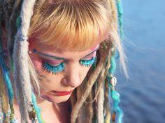 We mermaids. Particularly ones with dreadlocks. Get your own mermaid locks right here: Hair Color Purple, Blue Hair, 100 Human Hair Extensions, Woodland Fairy, Mermaid Hair, Pagan, Mermaids, Pixie, Elf