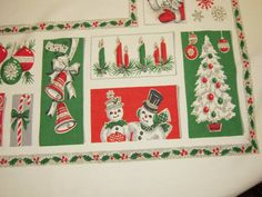 Vintage CHRISTMAS Tablecloth Santa Reindeer & by unclebunkstrunk, $64.99