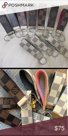 f430d62b989 Louis Vuitton Key Fob (Repurposed) Brand New and Handmade. 100% Authentic.