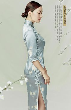 Refined Qipao Dress Handmade Chinese Buttons Delicate Trims