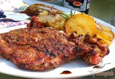 Grillezett tarja burgonyával, alufóliában sülve What To Cook, Creative Food, Tandoori Chicken, Grilling, Pork, Treats, Cooking, Ethnic Recipes, Carne Asada
