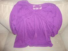 Womens Avenue Ruffle Tunic Purple Size 18/20 find me at www.dandeepop.com