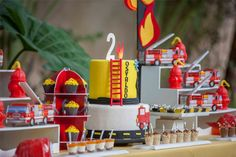 Fireman PartyFirefighter Birthday Party Ideas and Party Supplies at the Via Blossom Blog!  You don't want to miss it!