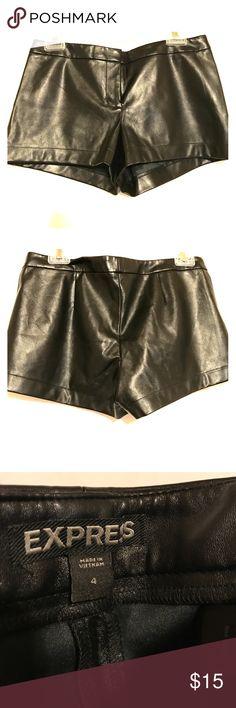 Express Faux Leather Shorts Sexy shorts! Express Shorts