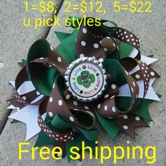 Brand-new handmade boutique hair bow free shipping  Price as picture  When you are ready to buy contact me and let me know the quantity and styles that you like and I will create listing for you with the bows you selected Thank you so much for your business