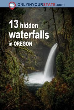 These 13 Hidden Waterfalls In Oregon Will Take Your Breath Away - - Do you know Oregon's waterfall secrets? Oregon Vacation, Oregon Road Trip, Oregon Travel, Travel Usa, Beach Travel, Travel Portland, Portland Oregon, Crater Lake, Places To Travel