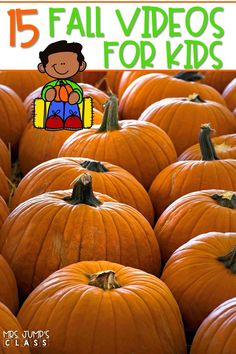 Your students will learn all about Autumn, leaves, pumpkins, spiders, bats, and owls with these kid-friendly videos. Great addition to your Fall themed activities! #fallvideosforkids #pumpkins #autumnleaves #batsandspiders
