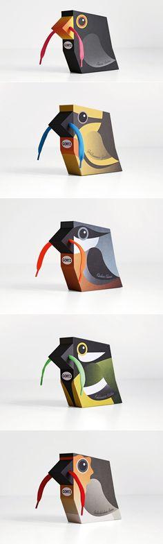 Shoelace Birds — The Dieline   Packaging & Branding Design & Innovation News