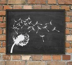 Dandelion Summer Garden Art Poster