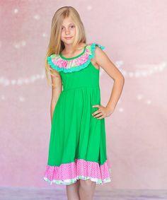 Green Sienna Dress - Infant, Toddler & Girls