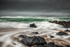 Turmoil at Bagh Steinigidh, Isle of Harris - Turmoil at the beach during a storm at Bagh Steinigidh on the Isle of Harris, Scotland Isle Of Harris, Scotland, Landscapes, Waves, Explore, Beach, Outdoor, Paisajes, Outdoors