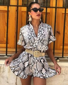 50 summer fashion trends 2019 best outfit ideas that you need 01 ~ Litledress Animal Print Outfits, Animal Print Fashion, Fashion Prints, Mode Outfits, Stylish Outfits, Fashion Outfits, Summer Fashion Trends, Spring Summer Fashion, Spring Trends