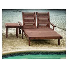Outdoor Best Redwood Double Sun Chaise Lounge - CLSNDB-A1905