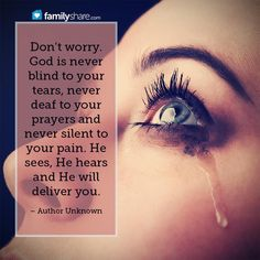 God is not deaf to your prayers