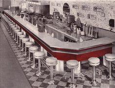 1956 ad Soda Fountain Bastian-Blessing vintage W. T. Grant Bloomfield NJ…