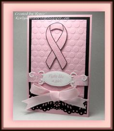 Beautiful card.  I just want to say as a survivor of breast cancer, it isn't necessary to give a card that has a pink ribbon, it isn't the reminder that we have cancer that we need, it's the reminder that you are there and care.