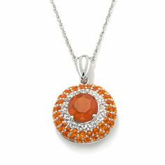Victoria Wieck Fire Opal and White Topaz Pendant