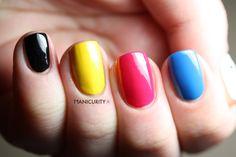 CMYK - inspired nail polish. I love this!!!