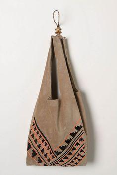 Aztec inspired hobo bag