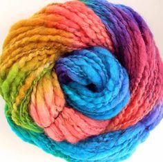 Handspun and Hand Dyed  BFL Wool Alpaca Bulky Yarn by FiberFusion