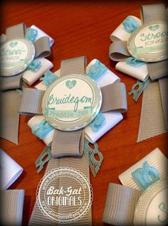 Hand made button badges and rosettes