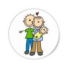 New Parents with Baby Tshirts and Gifts Classic Round Sticker