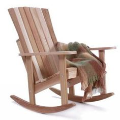 Outdoor All Things Cedar Athena Adirondack Rocking Chair - Western Red Cedar - RC22